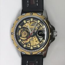 MCE Stainless Steel Fully Automatic Skeleton Mechanical Wrist Watch