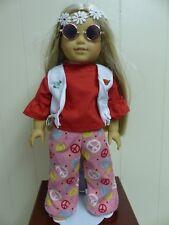 "Handmade Hippie Costume Fits 18"" American Girl Dolls !"