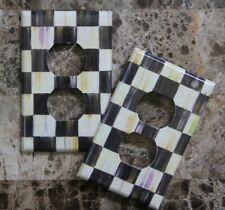❤️Switch Plate Outlet made w/Mackenzie Childs Courtly Check Tissue Paper❤️