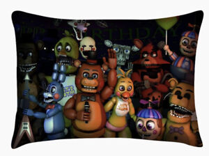 FNAF Five Nights At Freddy's Pillow Case Cover Cushion Cover Sham 20x30