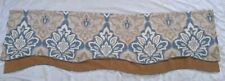 Croscill Window valance Blue Beige 67x21. Woven jaquard