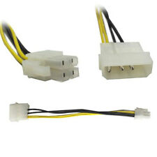 4 Pin Molex to ATX P4 CPU 4 Pin 12V PSU Power Supply Convert Cable Connector