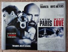 From Paris With Love 2009 Cinema Poster UK Quad