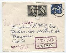 1959 registered airmail cover 30ct liberty pair [JP.15]