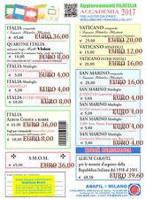 ITALIA REPUBBLICA ABAFIL Fogli  Aggiornamento Accademia 2017 codice a barre
