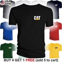 Caterpillar T-Shirt CAT Logo Tractor Equipment Bulldozer Construction Men Chest