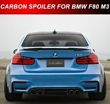 Carbon Fiber BMW E90 3-Series M4 Style Rear Boot Spoiler UK Seller