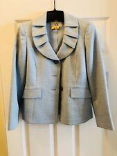 Womens Light Blue Le Petit Suit, Size 4P