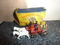 LESNEY MATCHBOX No.4 SHAND MASON HORSE DRAWN FIRE ENGINE VGC FOR AGE BOX POOR