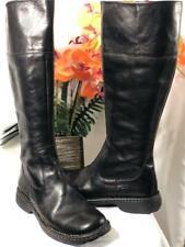 BORN Women's Black Leather Side Zipper Knee High Riding Boots #W3432 US8.5/ EU40
