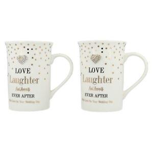 Lesser & Pavey Set 2 Fou à Pois Amour Laughter Fin Chine Céramique Mugs Cadeau