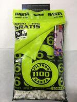 Filtros Rasta Slim 6mms. 5 bolsas de 1100 unids.+1mechero por bolsa.5500 filtros