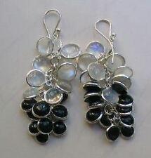 Moonstone Drop/Dangle Sterling Silver Fine Earrings