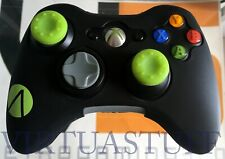 Xbox 360, OEM, Wireless Controller, Microsoft, Stealth Custom Scandal Green Grip