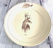 Vintage Deer Ceramic Dinner Plates Bass Pro Shop Hunters Rustic Forrest 9 Inch