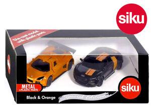 SIKU 6310 Special Edition Black & Orange Sports Car Set Gumpert Apollo + Audi R8