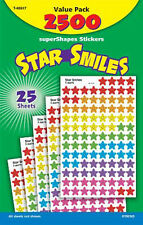 2500 Star Sonrisas profesor recompensa supershapes escuela pegatinas