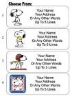 30 Snoopy Personalized Address Labels