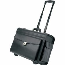 Matte Black Carry-On Rolling Pilot Case, Business Trolley Briefcase Luggage Bag