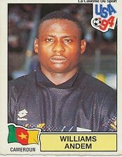 N°110 WILLIAMS ANDEM CAMEROUN CAMEROON PANINI WORLD CUP 1994 STICKER VIGNETTE 94