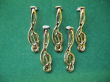 Woodturning 7mm Pen Kits, TREBLE CLEF in Gold