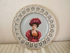 OUTSTANDING LIMOGES PORCELAIN PORTRAIT OF YOUND LADY MADE IN FRANCE