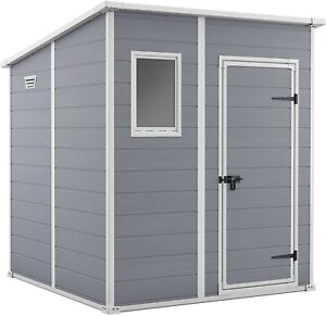 Keter - Manor Pent Garden Storage Shed 6x6 feet in Grey. RRP £399. Nearly New.
