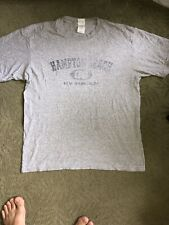 Gildan Ultra Cotton Mens T Shirt Gray Color Size Large Hampton Beach