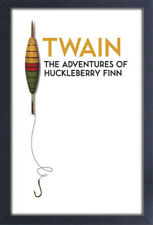 THE ADVENTURES OF HUCKLEBERRY FINN MARK TWAIN 13x19 FRAMED GELCOAT POSTER