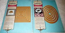 Spellbinders NESTABILITIES Craft Die LOT of 2 - Classic Square Sm & Ovals Large
