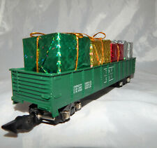 American Flyer 631 Texas & Pacific gondola w/ Christmas presents load Link cp TP
