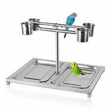 New listing Parrot Playstand Bird Perch Play Stand Stainless Steel Pet Parrots Table