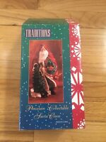 """Traditions Old World Porcelain Collectible Santa Claus 8"""" St Nick with tree"""
