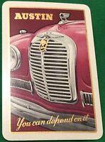Playing Cards 1 Single Card Old AUSTIN A40 SOMERSET Motor Car Advertising Art 1