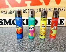 4 x Clipper Lighters Sloth Bear Collection Gas Lighter Refillable Set