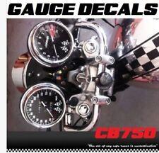 Honda CB750 CB 750 Cafe Racer Gauge Face Decal Overlay Speedometer Tach Applique