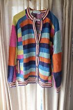 Vintage Stanley Korshak Hipster Colorful Button Sweater Cardigan S