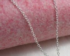 """O"" Cable Chain Necklace - Sterling Silver - 2mm* - 16 inch* -Made In Italy /"