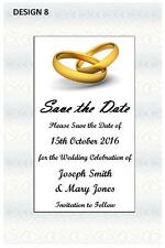 1 x SAVE THE DATE WEDDING PERSONALISED CARDS INVITATIONS INVITES + FREE MAGNETS