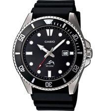 Mens Casio MDV106-1AV Black Rubber Black Dial Date Divers 200 Meter Watch