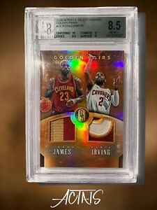 2015 Gold Standard GOLDEN PAIRS PATCH LEBRON JAMES KYRIE IRVING BGS 8.5 1/5
