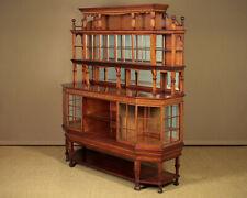 Unusual Antique Aesthetic Movement Mahogany Sideboard Dresser Display c.1900.