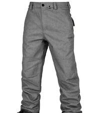 Volcom Men's Eastern Insulated Pant XL Heather Grey Snowboard Pants $185 Retail