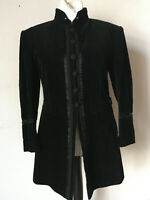 Zarenstil Jacket schwarz Breitcord Steampunk Theater Pirat 80er vintage 52 54