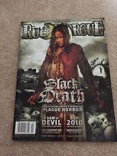 Rue Morgue Magazine Issue #108 January / Feb 2011 Horror Gore Black Death Cover