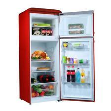 Galanz Retro Dual Door Mini Refrigerator Top Freezer Food Storage Kitchen Fridge