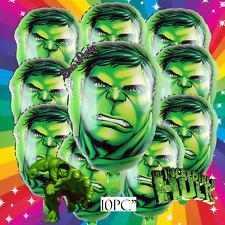 10 Hulk Head Piece Set Incredible Hulk Avengers Hero Birthday Party Balloon