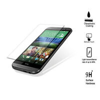 HTC M8 Tempered Glass Screen Protector, Olephobic Coating, Anti Glare-9H