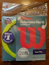 5 sets of Wilson Performance Plus Synthetic Gut 16g tennis string yellow