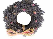 Lavender and Rose Buds Twig Circle Wreath 35cm